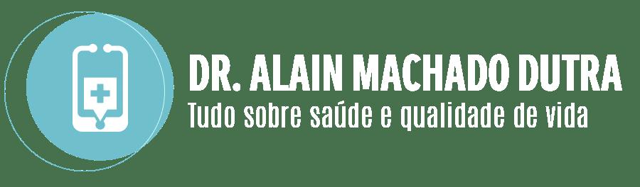 Logotipo Dr. Alain Dutra - Versão Branca